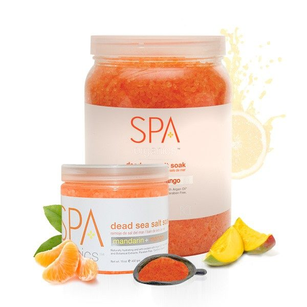 Spa Mandarin + Mango Dead Sea Salt Soak
